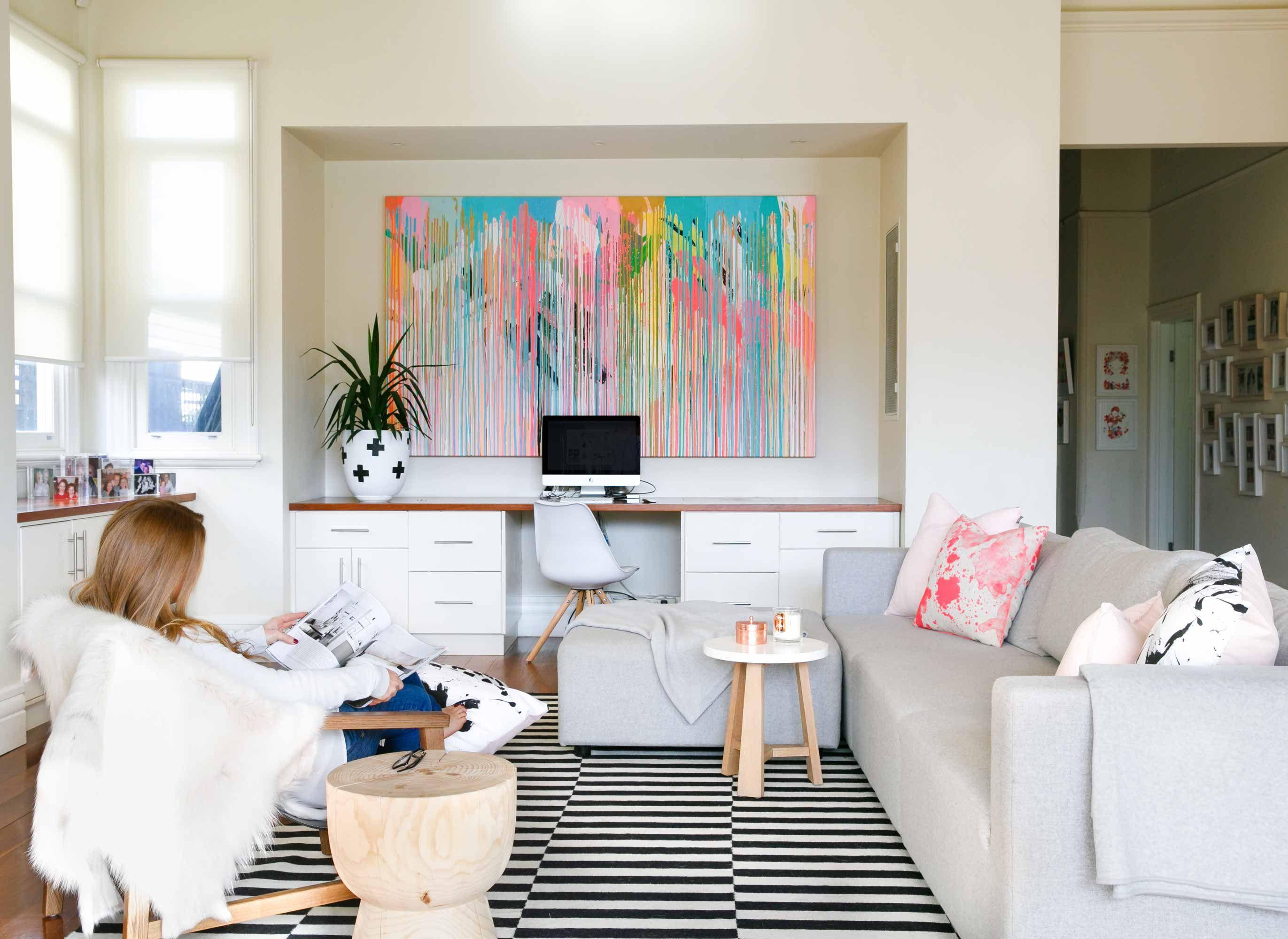 sơn tường trong phòng khách