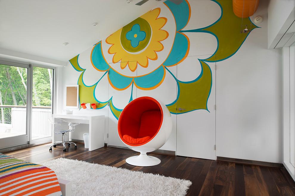 décoration murale dans la chambre d'un adolescent