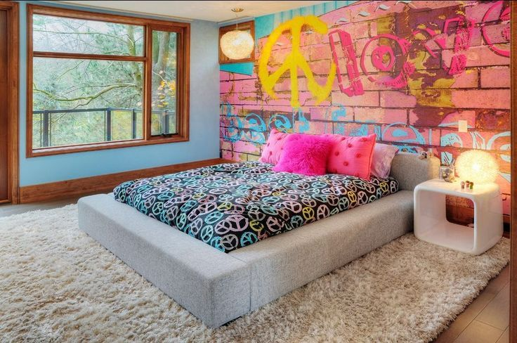 chambre d'adolescent graffiti