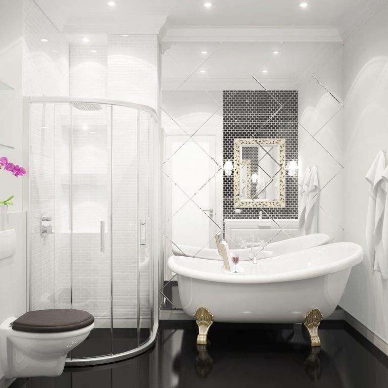 Petite salle de bain noire
