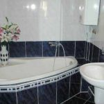 Petite salle de bain en noir et blanc au design cosy