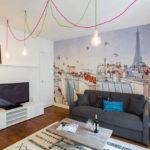 trang trí tường trong thiết kế ảnh phòng khách