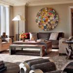 trang trí tường trong ý tưởng phòng khách
