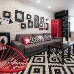 trang trí tường trong ý tưởng thiết kế phòng khách
