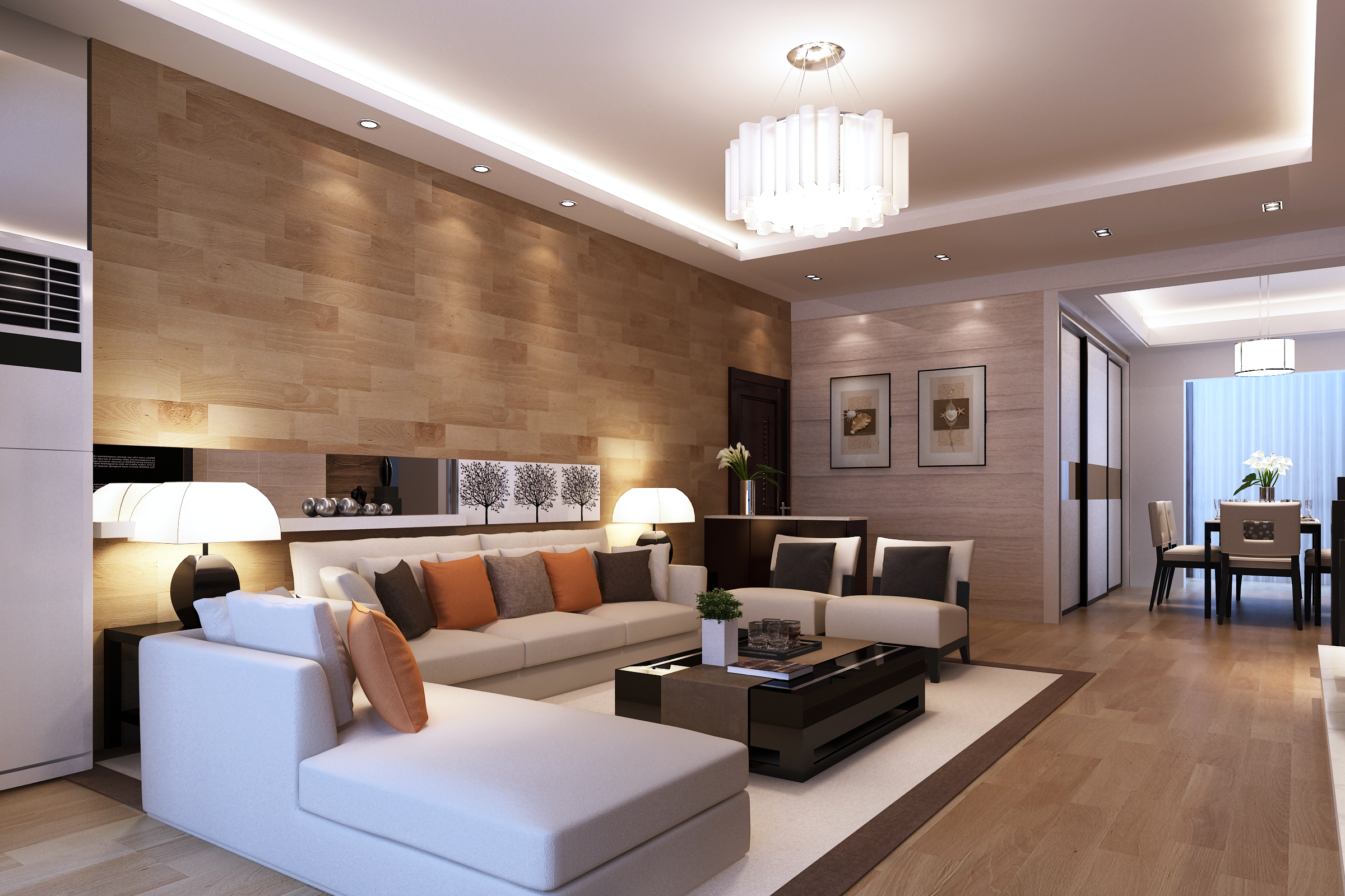 phòng khách lớn Art Nouveau