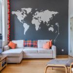 trang trí tường trong ảnh phòng khách