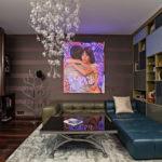 trang trí tường trong ảnh nội thất phòng khách