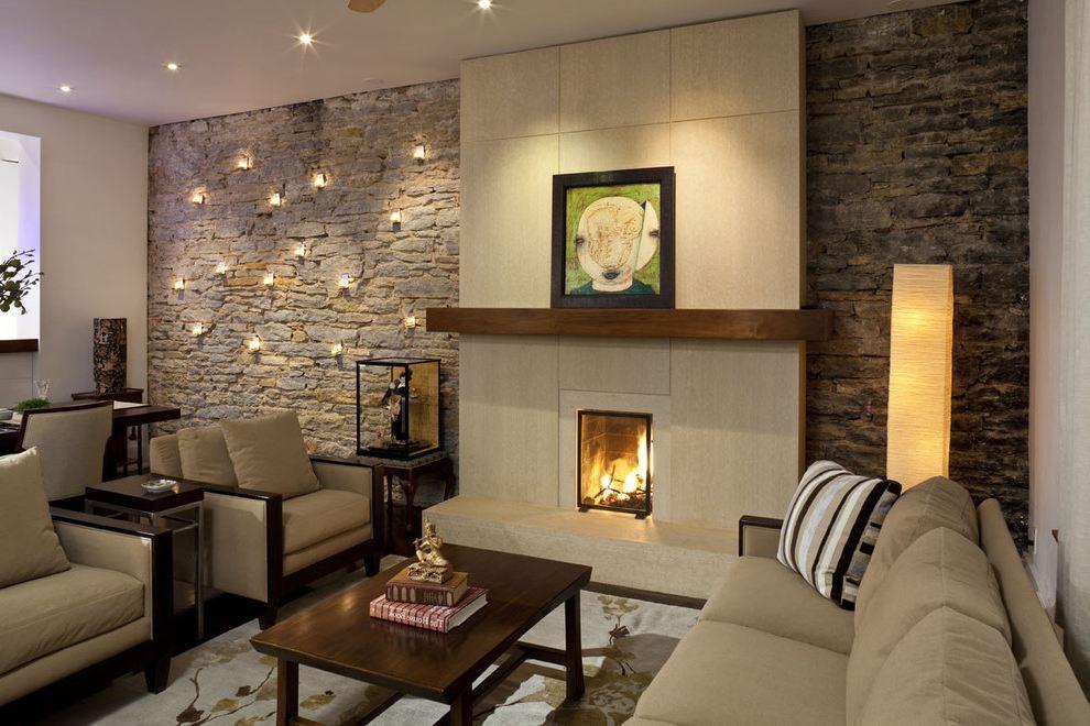 đá trang trí trong nội thất phòng khách