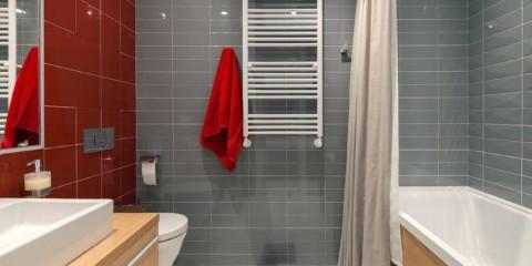 thiết kế tường phòng tắm