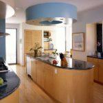 amenajare de bucătărie design mare insula