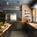 design mare de bucătărie stil mansardă