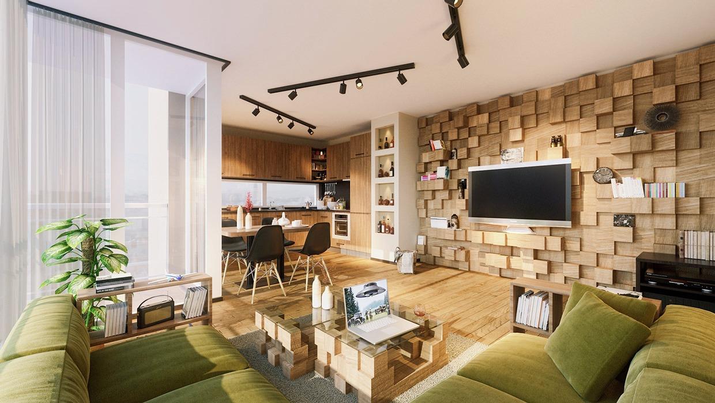 thiết kế và trang trí phòng khách rộng rãi