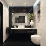 Conception de salle de bain sculptée