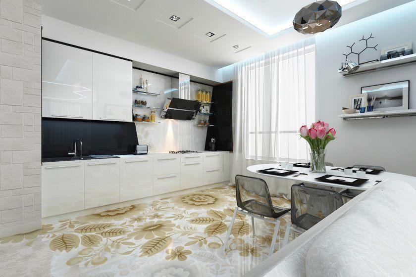 interior bucătărie în stil fuziune