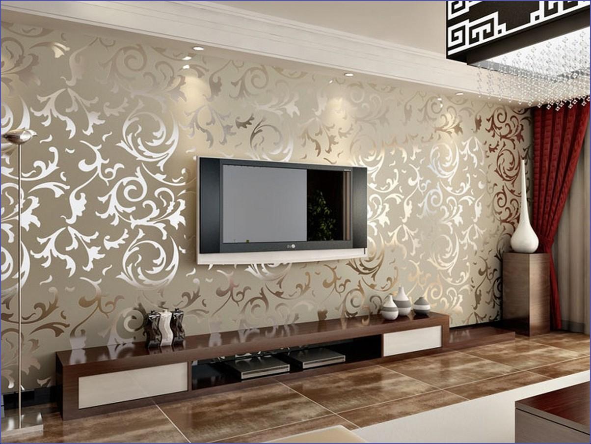 Cách chọn giấy dán tường trong phòng khách.