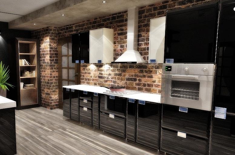 bucătărie în stil mansardă
