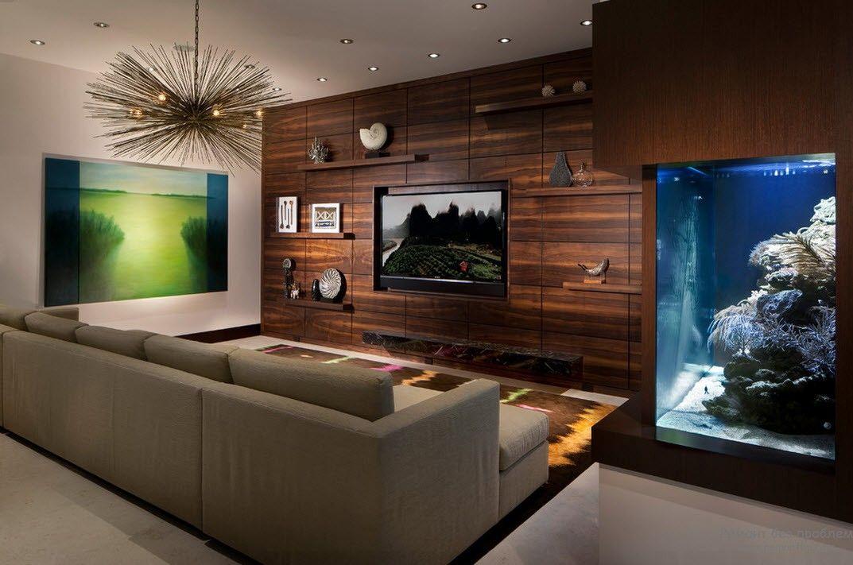 trang trí tường gỗ trong phòng khách
