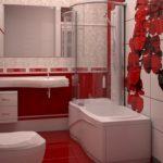 beau design de la salle de bain combiné avec les toilettes