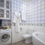 caractéristiques de conception de la salle de bain combinées avec les toilettes