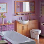 design spacieux de salle de bain avec WC