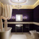 design de salle de bain chic avec toilettes