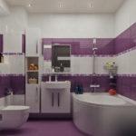 conception d'une salle de bain combinée avec des toilettes dans une maison en panneaux