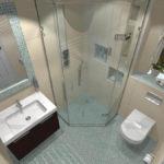 conception d'une salle de bain avec WC et lave-linge