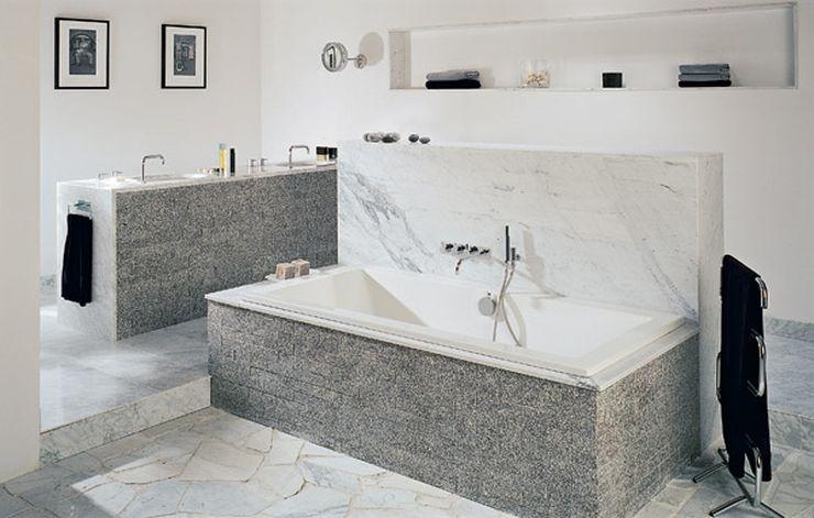 Salle de bain en granit blanc