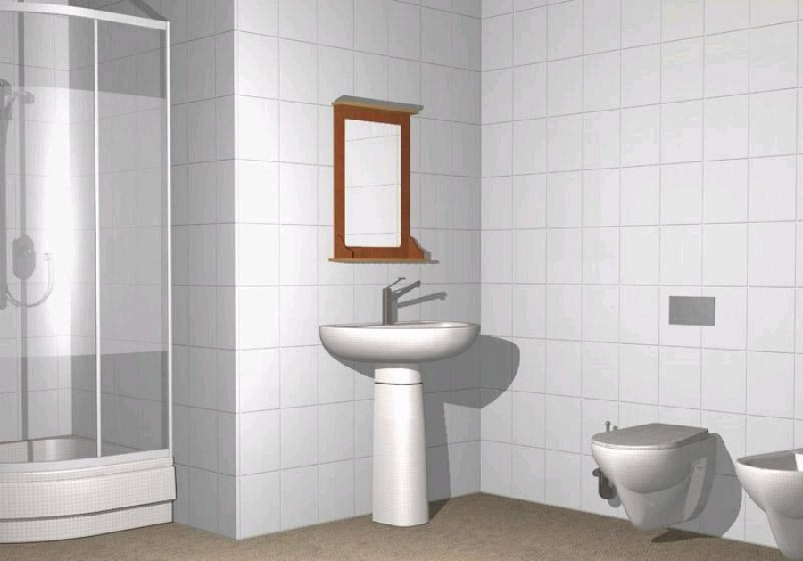 Carrelage céramique salle de bain blanc