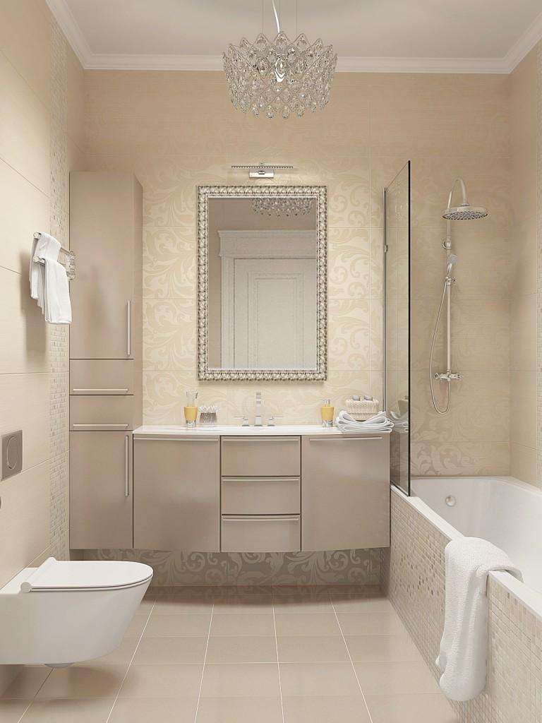 Minimalisme de salle de bain blanc laiteux