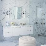 Texture marbre salle de bain blanc