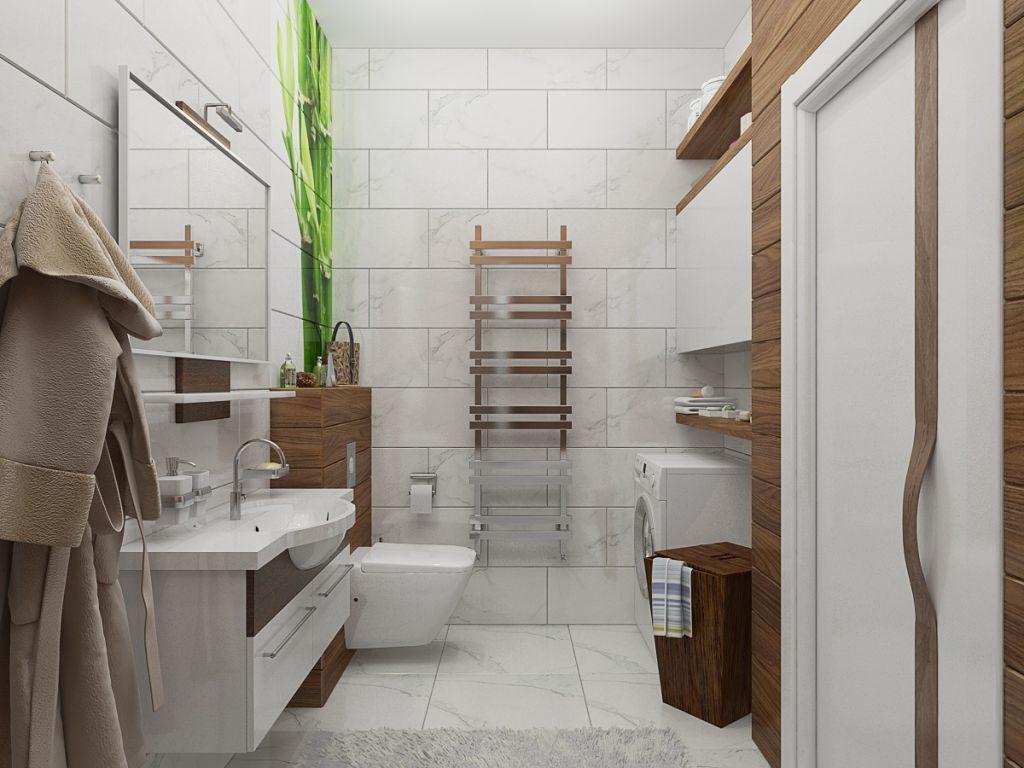 Salle de bain blanche style éco