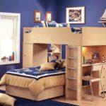 Conception d'une chambre d'enfant pour deux meubles d'armoire pour enfants hétérosexuels