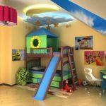 Conception d'une chambre d'enfants pour deux jeunes enfants hétérosexuels
