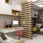 Conception d'une chambre d'enfant pour deux enfants hétérosexuels zones séparées