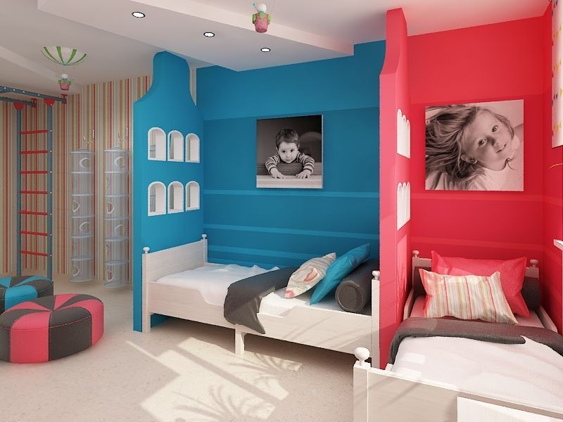Concevoir une chambre d'enfants pour deux adolescents hétérosexuels