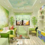 Conception d'une chambre d'enfants pour deux enfants hétérosexuels avec un joyau
