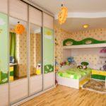 Conception d'une chambre d'enfants pour deux enfants hétérosexuels avec une armoire
