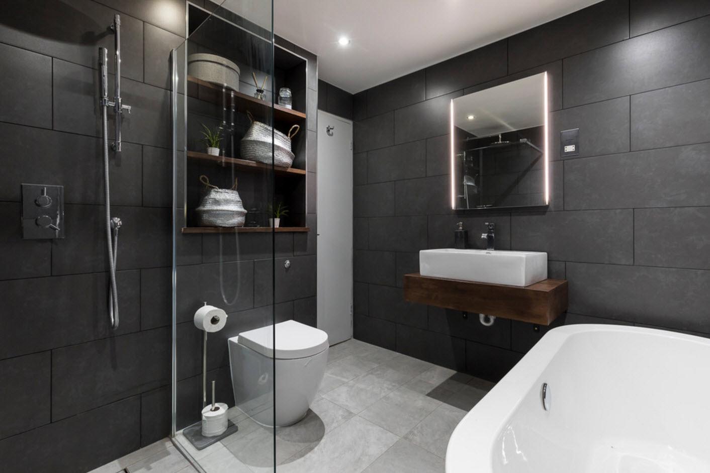 conception d'une salle de bain combinée avec WC