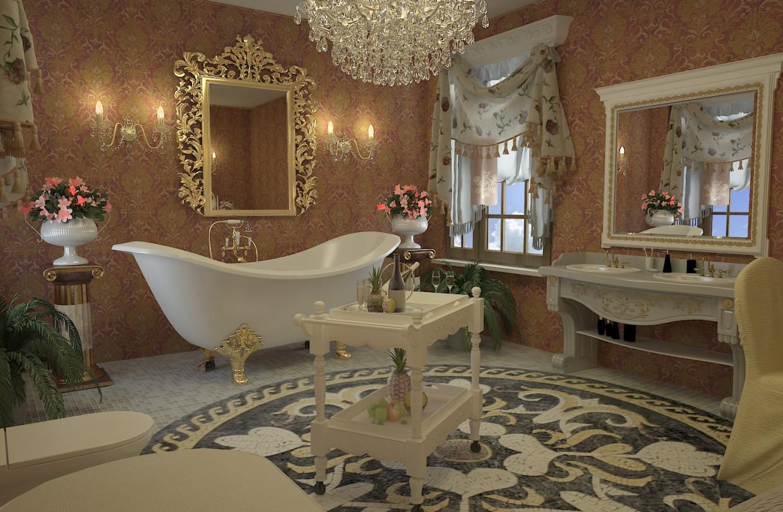 Conception de salle de bain de style Empire