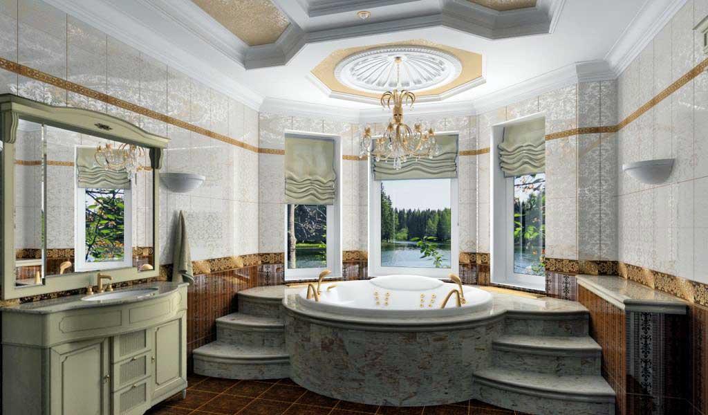 Conception d'une salle de bain dans une maison privée attrait et commodité