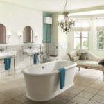 Conception de salle de bain privée dans un style scandinave
