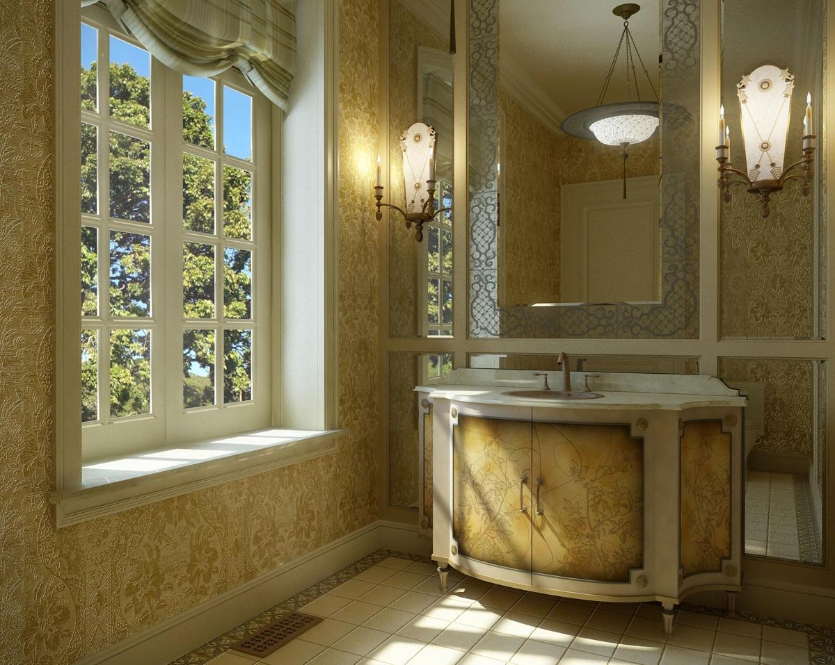 Amber Rococo Bathroom Design