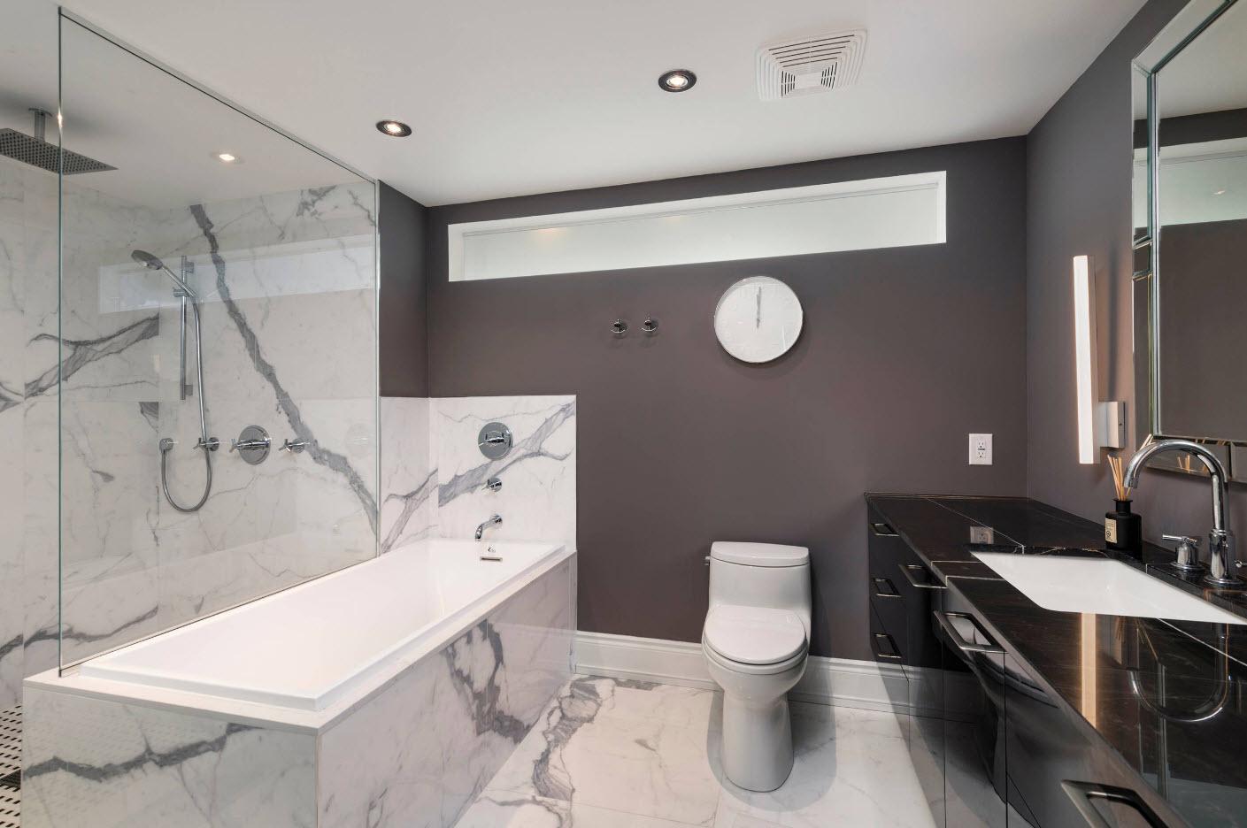 idées de conception de salle de bain avec toilettes