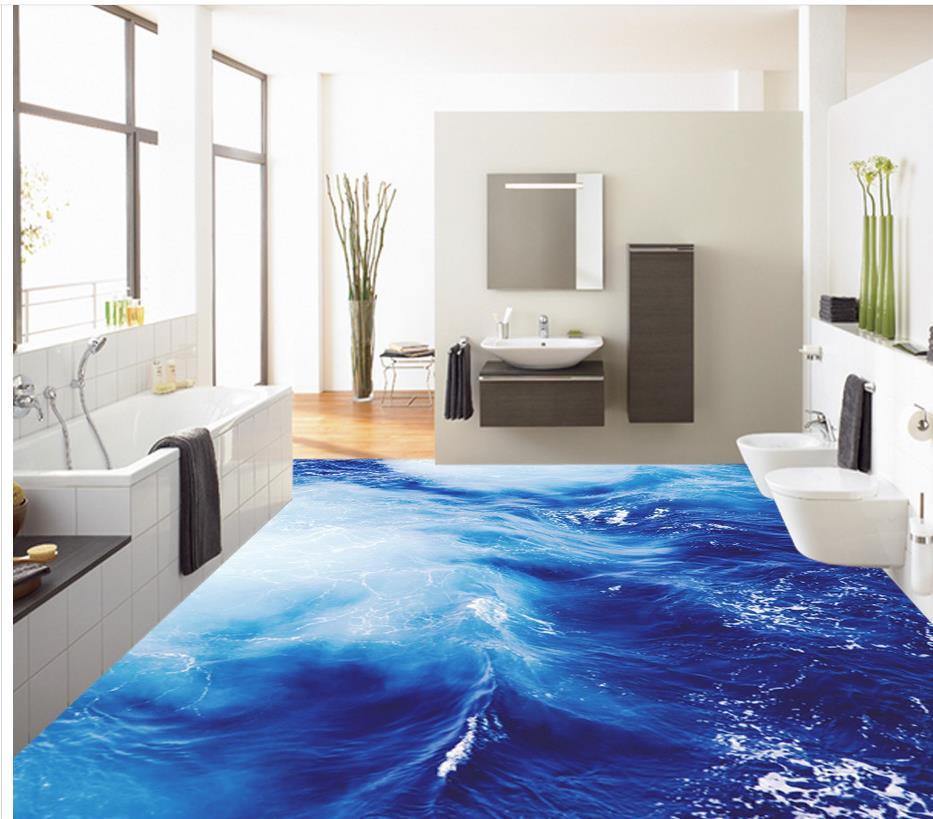 plancher en vrac dans une salle de bain
