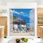 Fotomural în interiorul bucătăriei 3D iluzie