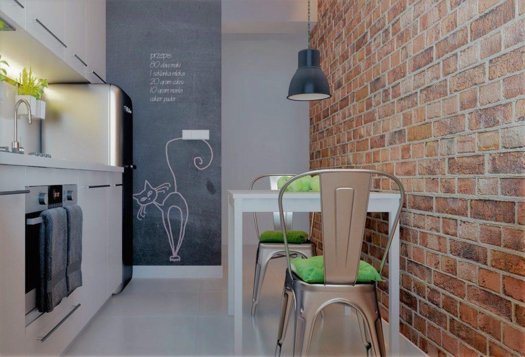 Perete de perete interior din bucătărie din fibră de sticlă