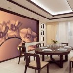 Fotomural bucătărie interioară macro fotografie de flori