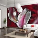 Pictură de perete în interiorul bucătăriei cu pictură abstractă