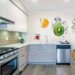 Fotomural interior bucătărie cu fructe proaspete